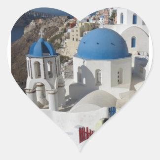 Mykonos Greece Travel Heart Sticker