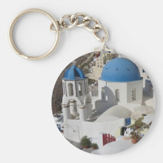 Mykonos Greece Travel Keychain
