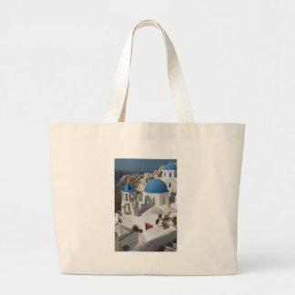 Mykonos Greece Travel Large Tote Bag