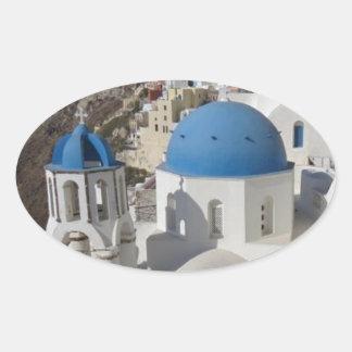 Mykonos Greece Travel Oval Sticker