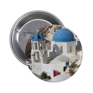Mykonos Greece Travel Pinback Button