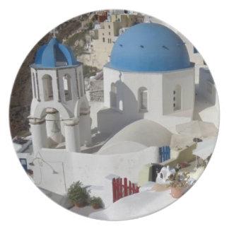Mykonos Greece Travel Plate