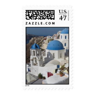 Mykonos Greece Travel Postage Stamp