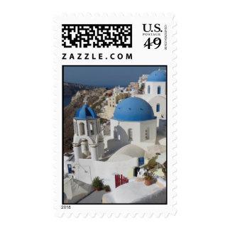 Mykonos Greece Travel Postage Stamp