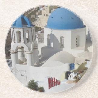 Mykonos Greece Travel Sandstone Coaster