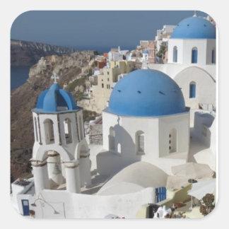 Mykonos Greece Travel Square Sticker