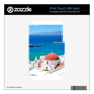 Mykonos Greek Island Hilltop iPod Touch 4G Skin