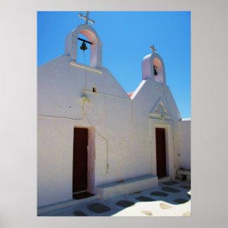 Mykonos, iglesia griega de Grecia, islas Impresiones