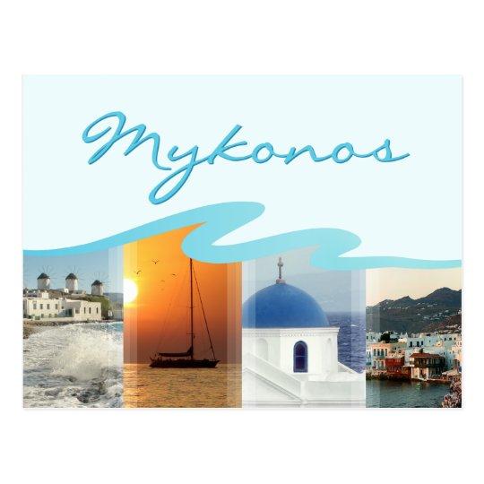 Mykonos Island Greece postcard