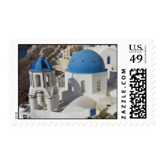 Mykonos Island Greece Travel Postage Stamp