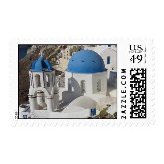 Mykonos Island Greece Travel Postage Stamp