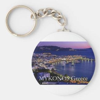 mykonos_night basic round button keychain