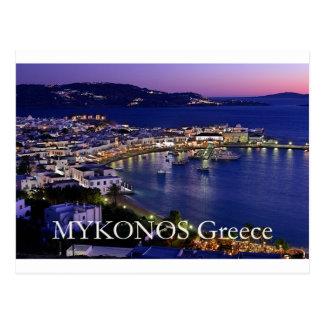 mykonos_night tarjetas postales