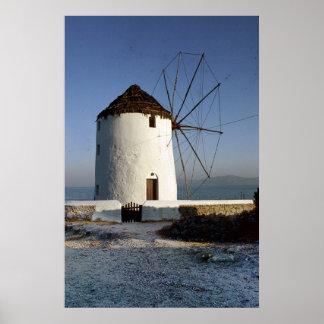 Mykonos Windmill Posters