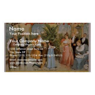 Myles Aroon, 'Andrew Mack', I'm Your's till Death Business Card Template