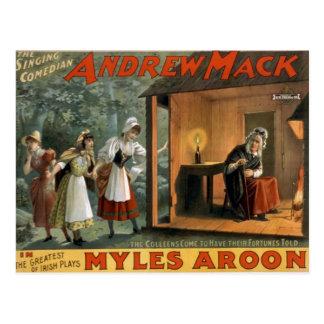 """Myles Aroon, teatro retro de """"Andrew Mack"""" Postal"""
