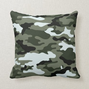 Mylitary Creen Camo Throw Pillow. Throw Pillow