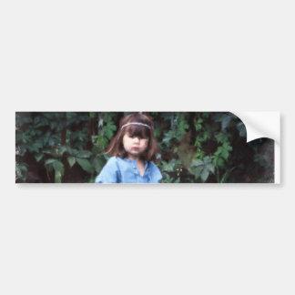 Mylune sitting in the grass bumper sticker