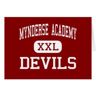 Mynderse Academy - Devils - High - Seneca Falls Greeting Card