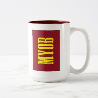 """MYOB"" Two-Tone COFFEE MUG"