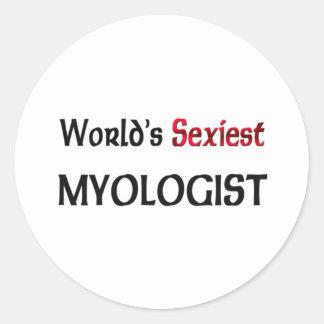 Myologist más atractivo del mundo pegatina redonda