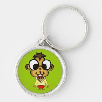 Myopic Chipmunk Keychain