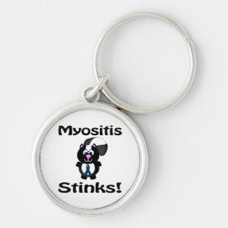 Myositis Stinks Skunk Awareness Design Keychain