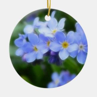 Myosotis sylvatica - Forget Me Nots Christmas Ornament