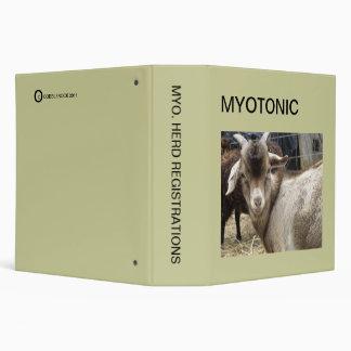 MYOTONIC GOAT REGISTRATION BINDER