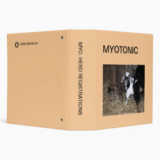 MYOTONIC HERD REGISTRATION BINDER