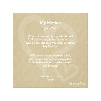 MyPoetTree, My Mother, Canvas Print