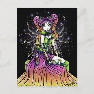 Myra Celestial Rainbow Fairy Art Postcard postcard