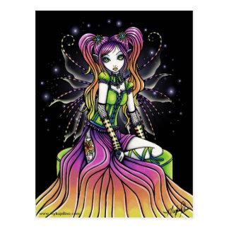 Myra Celestial Rainbow Fairy Art Postcard