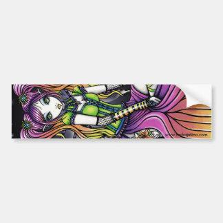 Myra Gothic Celestial Rainbow Fairy Bumper Sticker