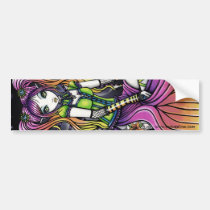 myka, jelina, myra, faeries, fairies, fairy, faery, fae, pixie, cute, celestal, gothic, tattoo, lilly, stars, rainbow, art, Bumper Sticker with custom graphic design