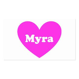 Myra Tarjeta De Visita