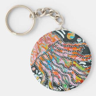 Myriad Color Mirage Jellyfish Keychain