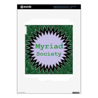 Myriad Society Decals For iPad 3