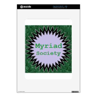 Myriad Society Decals For The iPad