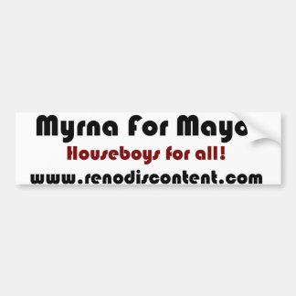 Myrna la moza descarada para el alcalde de Reno Pegatina Para Auto