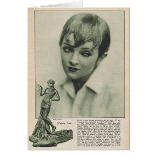 Myrna Loy 1925 Card