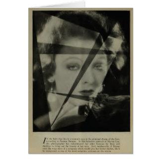 Myrna Loy 1928 vintage portrait Card