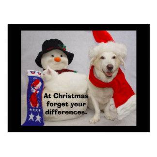 Myrtie & Missy Christmas Postcard