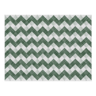 Myrtle And Chartreuse Zigzag Chevron Pattern Postcard