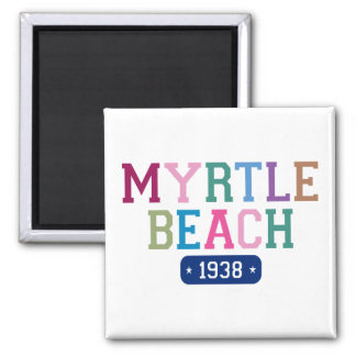 Myrtle Beach 1938 2 Inch Square Magnet