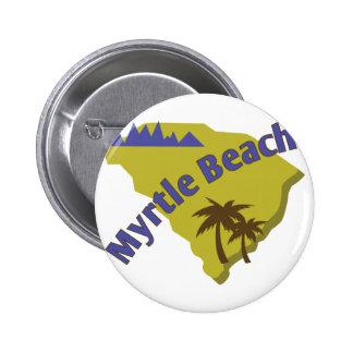 Myrtle Beach 2 Inch Round Button