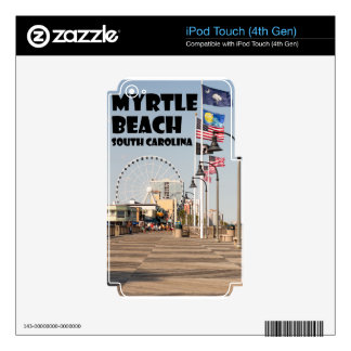 Myrtle Beach Boardwalk South Carolina Vacation BLK Skins For iPod Touch 4G