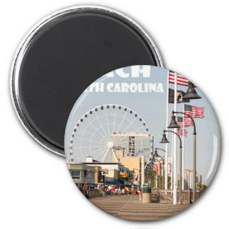 Myrtle Beach Boardwalk South Carolina Vacation WHT Magnet
