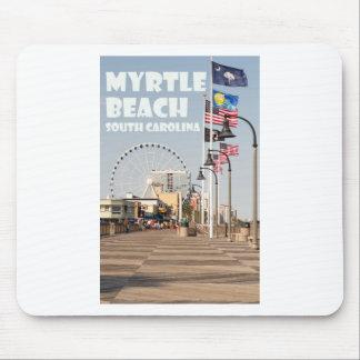 Myrtle Beach Boardwalk South Carolina Vacation WHT Mouse Pad