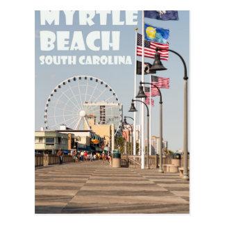 Myrtle Beach Boardwalk South Carolina Vacation WHT Postcard